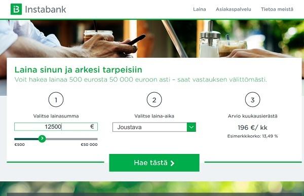 Instabank laina kokemuksia tältä vuodelta, mitä voin enää edes sanoa, pankki on kuin Nuurdeamme, mutta prempi ja netissä. Sekä siinä samassa kaikkien käytössä. Lainaa edullisella korolla, mitä vielä? Instabank Rokkaa!