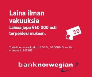 Bank Norwegian - Paras pankkilaina tarjous heti