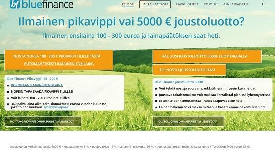 BlueFinance on todellakin finanssiluokan palvelu ja tänä päivänä ehdottomasti sieltä paremmasta päästä. Se on parantunut myös huomattavasti, jonka selittää äärettömän kova kilpailu